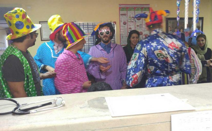 Weekly visit celebration in Bahrami children's hospital