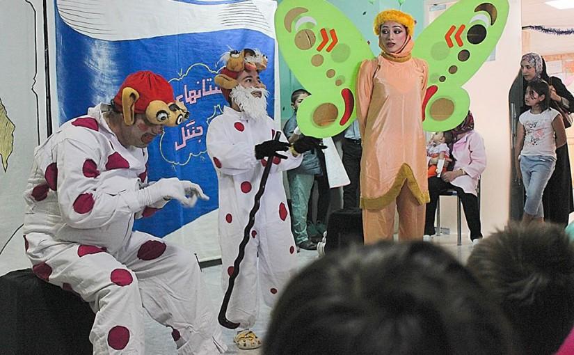 جشن عید قربان و اجرای تئاتر در بیمرستان کودکان بهرامی