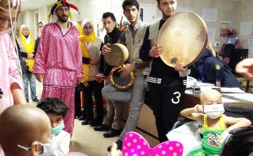 جشن میلاد حضرت رسول(ص) در بیمارستان کودکان بهرامی