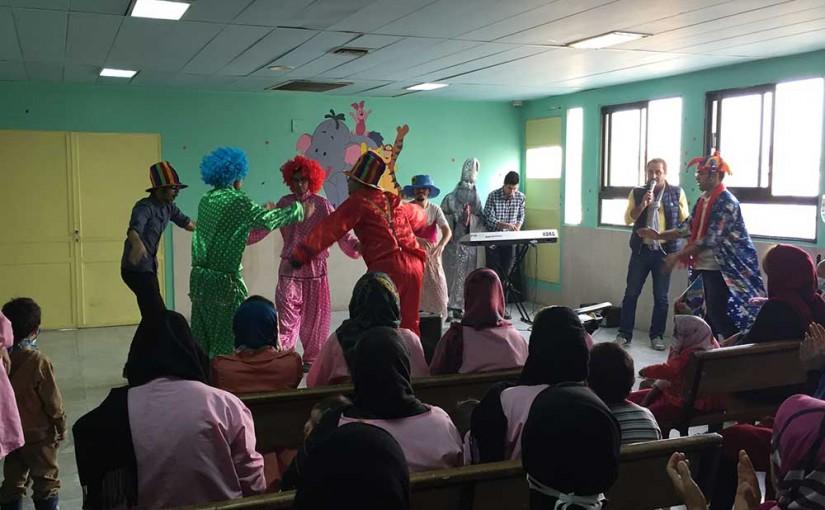 جشن عیادت در بیمارستان کودکان بهرامی