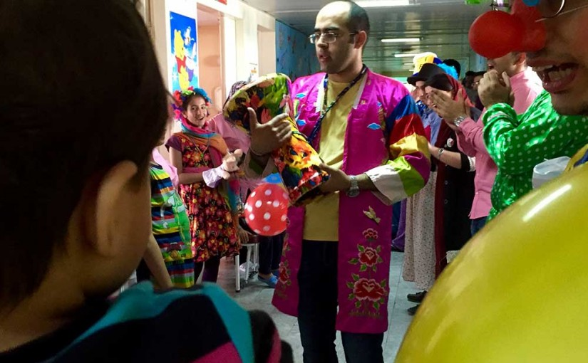 جشن روز پدر در بیمارستان کودکان بهرامی