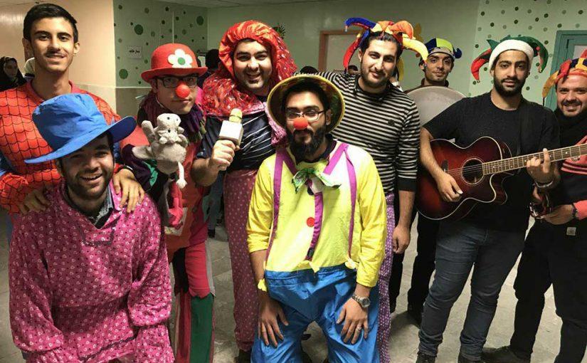 جشن عیادت هفتگی در بیمارستان کودکان بهرامی