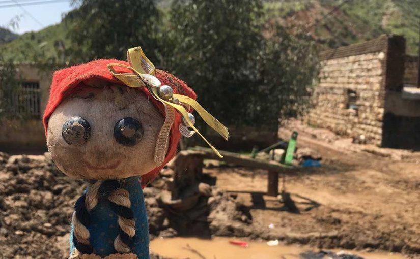 حضور تیم کودکان فرشتهاند در مناطق سیل زده گلستان، لرستان و اهواز